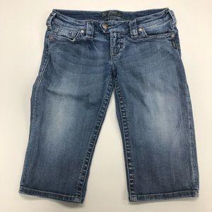 Silver Jeans Tuesday Bermuda Short Sz 28